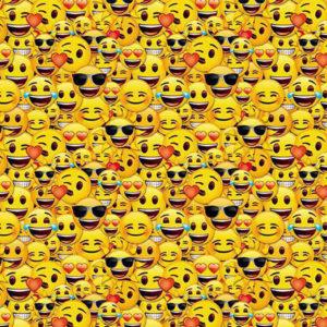 Lustiger Gelber Pareo Mit Smiley-muster - Emotions