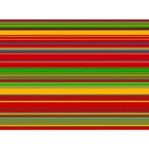 Gefranster Pareo Rot-/gelb-/grüngestreift - Solar Soleil Yellow