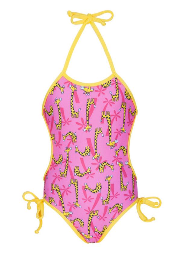 Rosa Baby Badeanzug mit Giraffenmotiv - Girafinhas