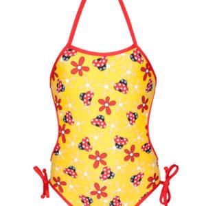 Gelber Baby Badeanzug mit Marienkäfermotiv - Joaninha