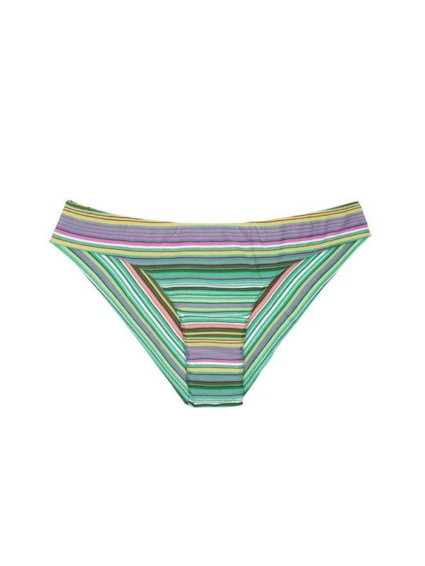 Grün gestreifte Brasil Bikinihose - Calcinha Iemanja Sporty