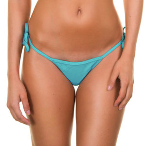 Bikini Slip Tahitiblau, mit seitlichen Bändern - Tahiti Micro