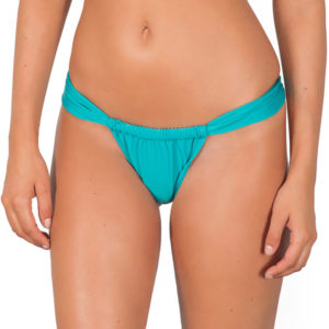 Bikini Brasilien Slip Tahitiblau, verstellbar - Tahiti Sumo