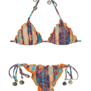Brasil Gemusterter Micro Scrunch Bikini - Despi