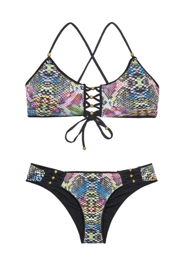 Brasil Bustier Bikini mit Schlangenmotiv - Jubilee