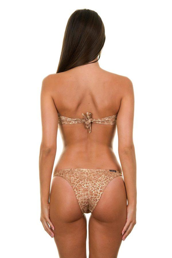 Bandeau Bikini goldbraun