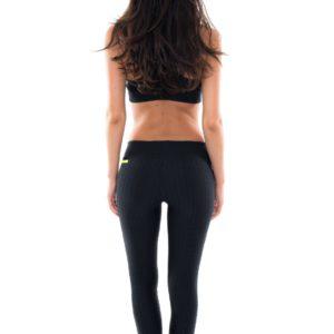 Fitness Leggings aus Wabengewebe - schwarz