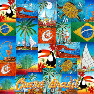 Pareo mit Fransen, Ceara Brasil - Canga Ceara Patchwork