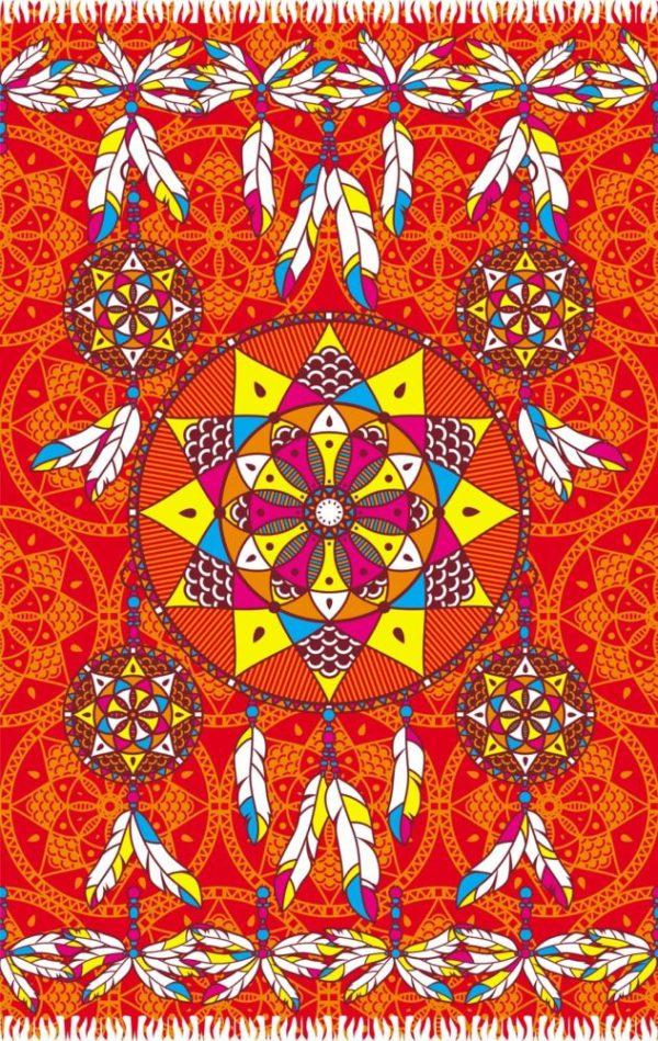 Roter Pareo mit Traumfänger Motiv - Dream Red