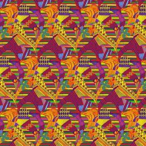 Gefranster Pareo, mit geometrischen Mustermix - Folhas Sagradas