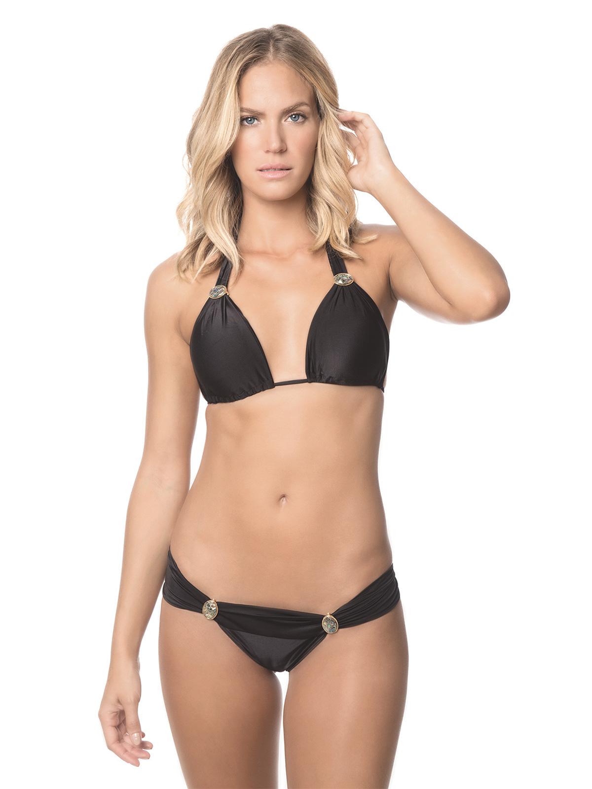 triangel bikini mit schalf rmigen oberteil schwarz despi. Black Bedroom Furniture Sets. Home Design Ideas