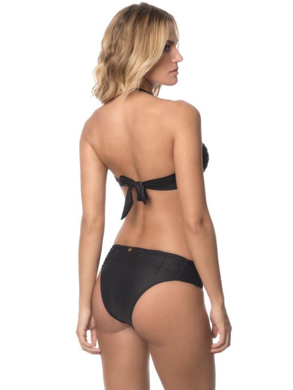 Bandeau Bikini schwarz mit Schalen - abnehmbare Träger - DESPI