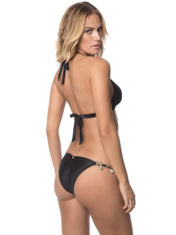 Schwarzer Triangel Bikini, unverstellbar mit Schmuck - DESPI