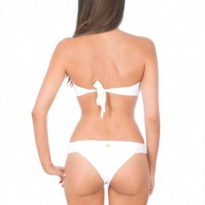 Weißer Brasil Bikini trägerlos - Rückansicht