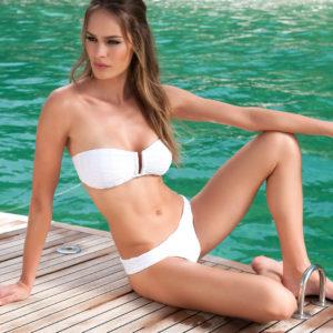 Bandeau Bikini weiß - Despi