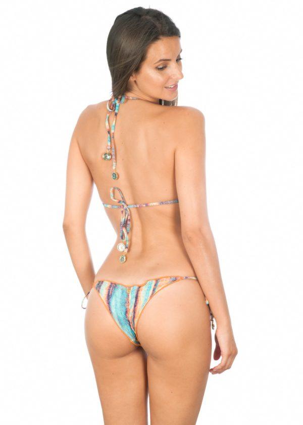 Brasil Gemusterter Micro Scrunch Bikini