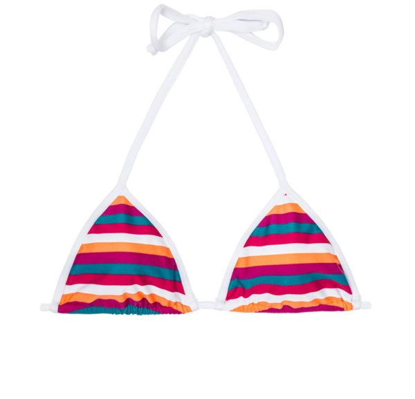 Mehrfarbig gestreiftes Triangel Bikinioberteil unwattiert - riodesol
