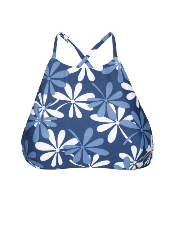 Weiß-blau geblümtes Bikini Top Rio de Sol
