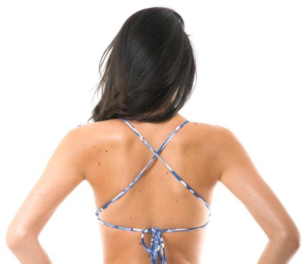 Weiß-blau geblümtes Bikini Top - Soutien Maresia Sporty