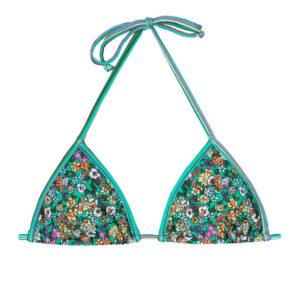 Grün geblümtes Triangel Bikinioberteil - Soutien Margaridas