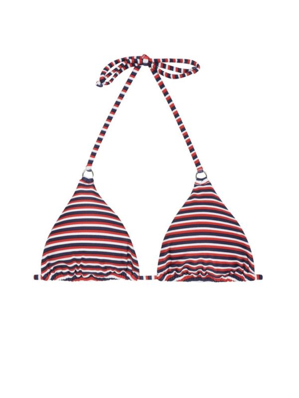 Dreifarbig gestreiftes Bikini Top - RiodeSol