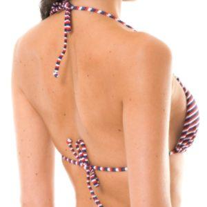 Kanppes Dreifarbiges gestreiftes Bikini Top