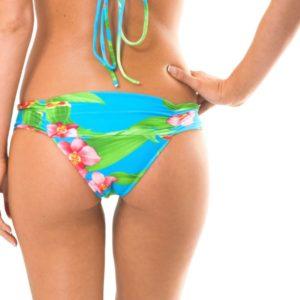 Tropisch geblümtes Bikinihöschen, breite Seiten - Rio de Sol