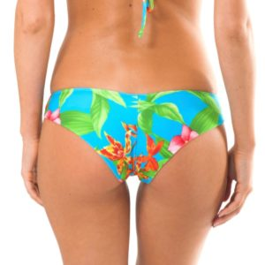 Sexy blau geblümtes sportliches Bikinihöschen - Rio de Sol