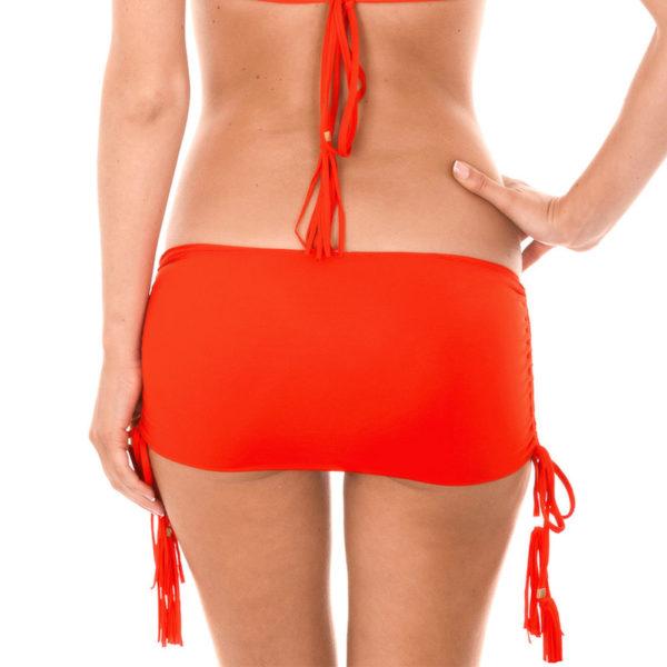 Bikinirock Bikinislip mit Pompons - Calcinha Ambra Jupe Urucum