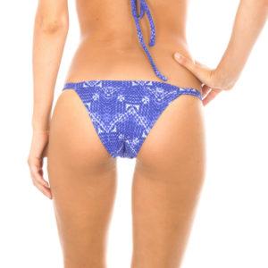Sexy verstellbarer Brasil Badetanga Jeansblau - Calcinha Bluejean Basic