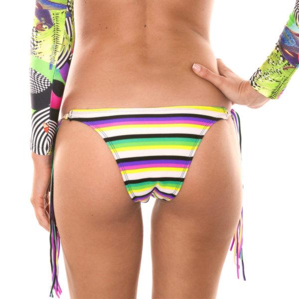 Sexy gestreifte Bikinihose mit Fransen Tropical - Rio de Sol