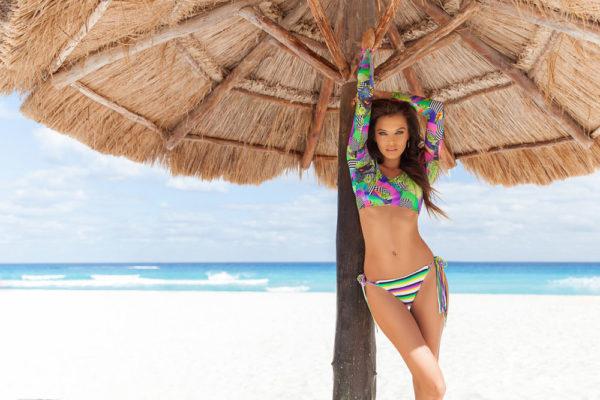 Knapper gestreifter Scrunch Bikini - Rio de Sol