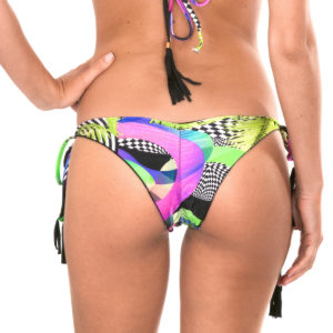 Gemusterte Scrunch Bikinihose mit Quasten - Rio de Sol