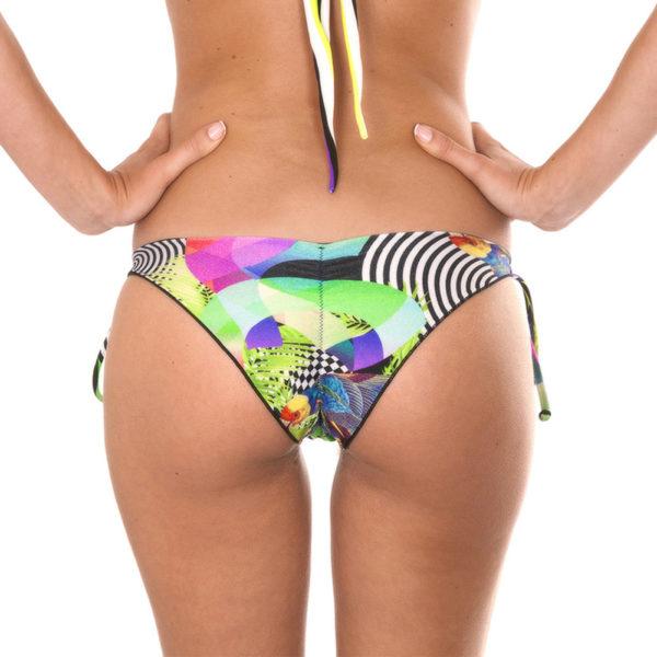 Sexy Scrunch-Bikinihöschen mit Seitenschnüre - Calcinha Bossa Mix