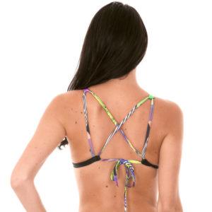 Gemustertes Triangel Bikinioberteil mit Foulard-Druck - Rio de Sol