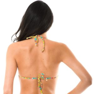 Gelb gestreiftes Brasil Bikini Oberteil - Rio de Sol