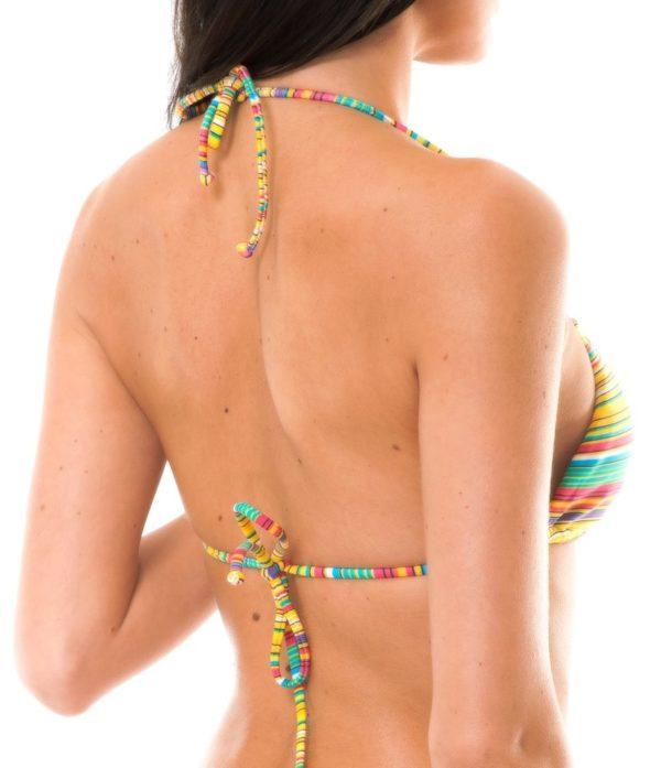 Sexy Brasil Bikini Oberteil gelb gestreift - Soutien Canarinho Cheeky
