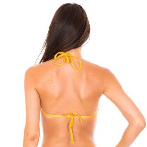Bikini Triangel Oberteil gelb gestreift - Rio de Sol