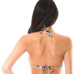 Bunt gestreiftes Triangel Bikini Oberteil - RiodeSol