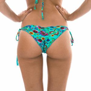 Sexy Geblümtes Scrunch-Bikinihöschen mit gewellten Rändern - Rio de Sol