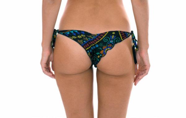 Brasil Scrunch Bikinihose mit Motiven und gewellten Rändern - Rio de Sol