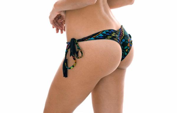 Sexy Brasil Scrunch Bikinihose mit Motiven und gewellten Rändern - Rio de Sol