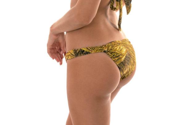 Sexy Bikinislip gold gemustert - Rio de Sol