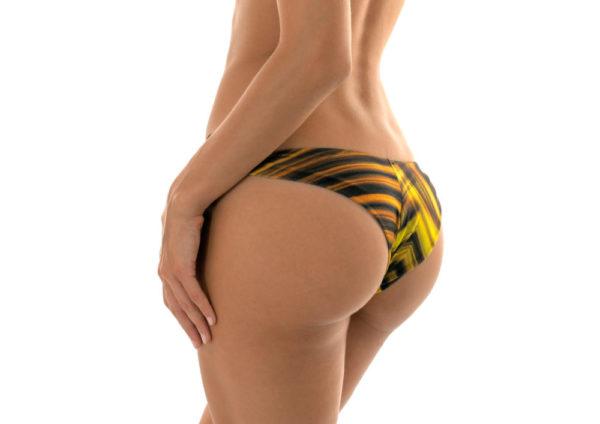 Gelb-schwarzes Sexy Bikinihöschen 2018 - Calcinha Luxor Nadador