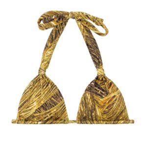 Goldgemustertes verstellbares Bikini Triangel Top - Rio de Sol
