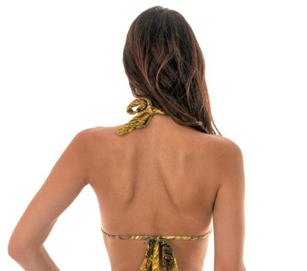 Goldgemustertes verstellbares Bikini Triangel Top - Soutien Cortinao Reluzente