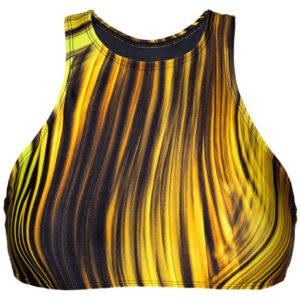 Sportliches Crop Top gelb-schwarz - Soutien Luxor Nadador