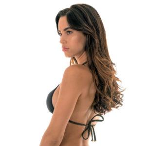 Sexy schwarz goldenes Bikini Triangel Oberteil - Soutien Radiante Black Tri