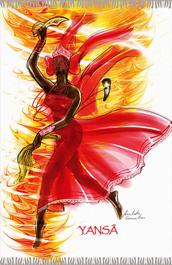 Strandtuch tanzende Kriegsgöttin - Yansa