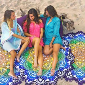 Rundgekerbtes Mandala-strandtuch Mit Quasten - Vagabond beach